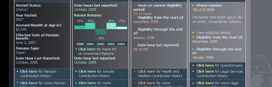 Mass Laborers Benefit Portal Dashboard