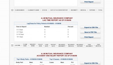 Workers Compensation Insurance Broker Dashboard