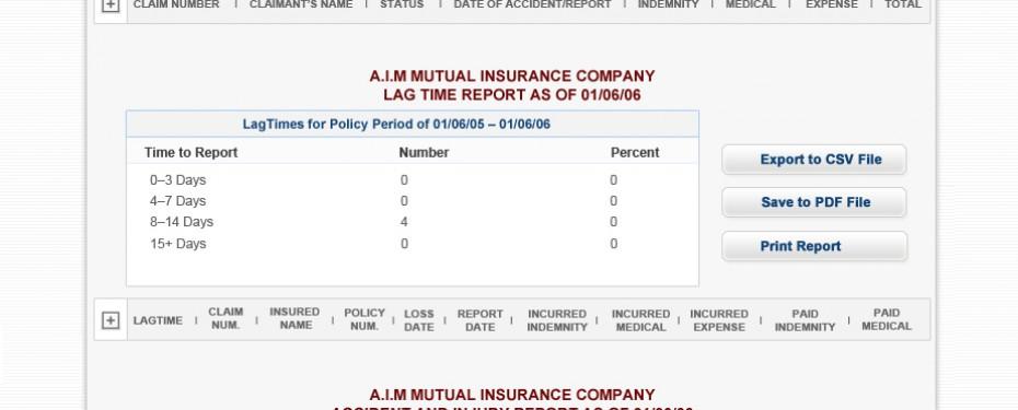 Workers Compensation Insurance Broker Dashboard