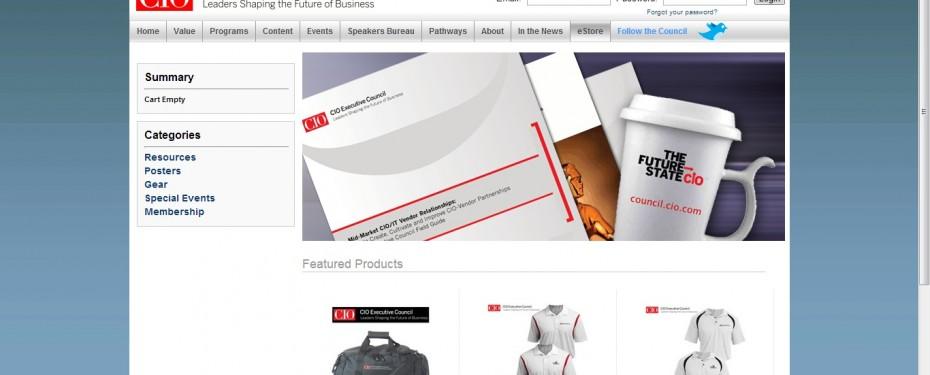 CIO Executive Council online store home page