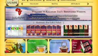 Kalahari Tea Website Screenshot