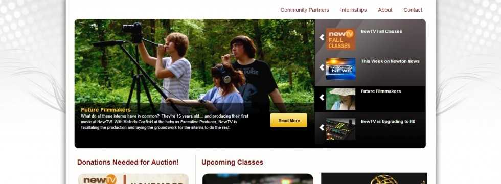 NewTV.org Web Site Home Page