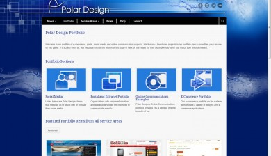 Polar Design v. 4 web site portfolio