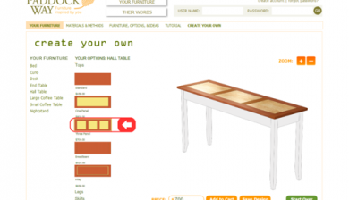 Paddock Way Furniture Configurator