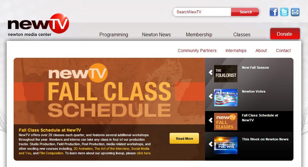 Slider Carousel Example from NewTV.org