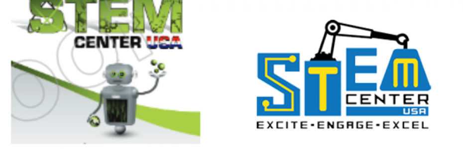 STEM Center logo before and after