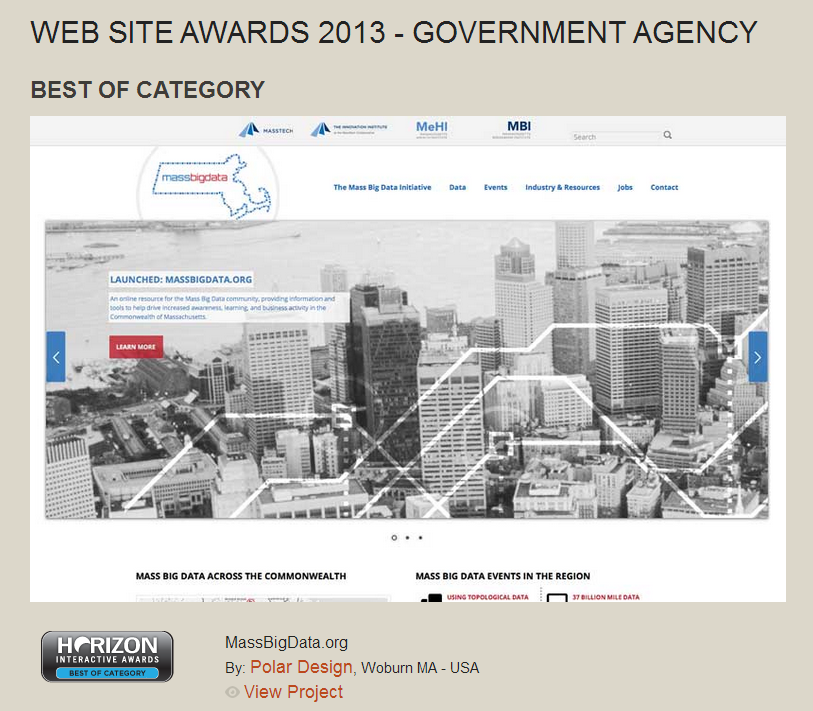 Mass Big Data Wins Best Of Government Websites