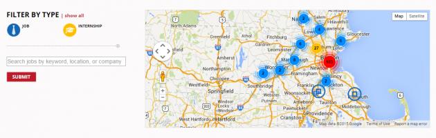 Mass Big Data's Interactive Jobs Map