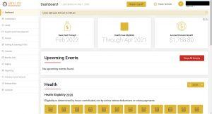 Local 478 secure participant portal dashboard